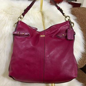 COACH Magenta Leather N/S COLETTE Hobo  16413